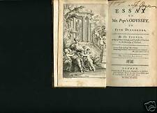 Book,Mr. Spence, An Essay on Mr. Pope's Odyssey,1737