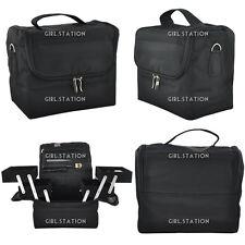 Multi-Function Black Makeup Case Outdoor Nail Beautician Extendable Bag #340
