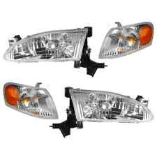 1998 - 2000 TY COROLLA HEADLIGHT & CORNER LAMP LIGHTS COMBO LEFT & RIGHT 4PCS