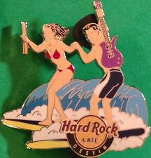 Hard Rock Cafe DESTIN 2012 SURFBOARD Series PIN #3/4 Guy/Girl - #68497 HRC Bag!