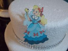 12 FUSTELLATO Principessa wafer commestibile/Carta di Riso Decorazioni per Torta/Cupcake