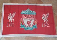 Liverpool Official Club Crest Flag - Red Flag with 2 Liverbirds - 5 ft x 3 ft