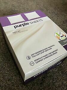 NEW IN BOX KING Purple THE Sheets - Stretchy. Breathable. Soft.