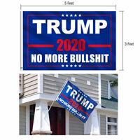 Fly Donald Trump 2020 Flag No More Bullshit 3x5Ft MAGA Flag Banner Blue Flag US