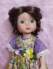 """Monique Gold Doll Wig 7 1/4"""" fits Anne Estelle, Ellowyne, more, Synthetic Mohair"""