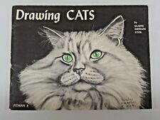 DRAWING CATS by Gladys Emerson Cook Pitman 8 Art Book 1958 Paperback Book