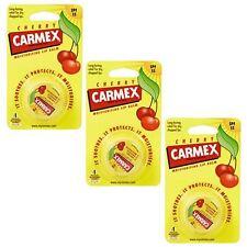 Carmex bálsamo De Labios Hidratante pot Cherry labios agrietados - 3 Pack