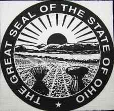 OHIO STATE SEAL - Display your travels! - Printed Patch - Sew On - Bag, Jacket
