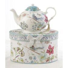 New Delton 9.5X5.6 Inches Porcelain Tea Pot With Box,Partridge