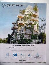 PUBLICITE-ADVERTISING :  PICHET Le Jardin Habité  2016 Immobilier,Paris