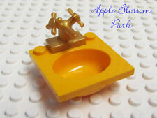 NEW Lego Minifig Yellow Orange BATHROOM SINK & GOLD FAUCET -Belville Basin & Tap