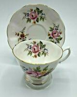 Royal Albert Pink Rose Blossom English Bone China Tea cup and Saucer