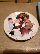 New listing 1985 Norman Rockwell Gorham China Christmas Plate Home for the Holidays #3661