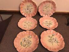 T&V Tressemann & Vogt LIMOGES France ~ Set of 6 ~ Floral Shaped Scalloped Plates
