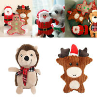 Christmas Chew Pet Santa Claus Dog Toys For Dog Sound Toys Cute Squeaker Toy