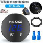 Dc 12-24v Led Panel Digital Voltage Volt Meter Display Voltmeter Motorcycle Car