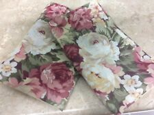 """FLORAL SHAMS SET OF 2 BUTTERCUP YELLOW ROSES SPRINGS """"STANDARD"""" SHABBY COUNTRY N"""