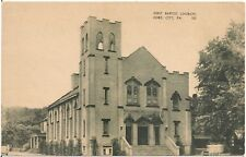 First Baptist Church in Ford City PA Postcard