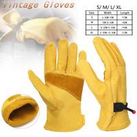 Motorcycle Motorbike Cafe Racer Vintage Sport Racing Gloves PU Leather S M L XL