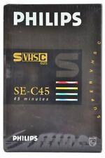 PHILIPS 45min S-VHS-C Camcorder Kassette Tape (SE-C45) NEU (world*) 004-319°