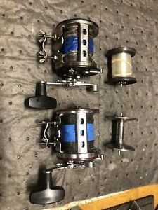 Penn 500 Jigmaster, Wire Line, Extra Spools, 2 Reels Quick Spool Removal