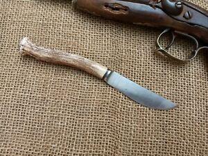 HANDMADE pocket BOWIE GAUCHO COWBOY EDC DEER HORN STAG SOLINGEN BLADE BUCHCRAFT