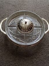 Vintage Glass & Silver Plate Serving Ware By Mayell