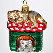 Decoración para árbol de Navidad Figura cristal Animal glastier: Gato & Perro -