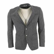 HUGO BOSS Jacket Navy Wool Silk Blend Extra Slim Fit Size 54 HC 407