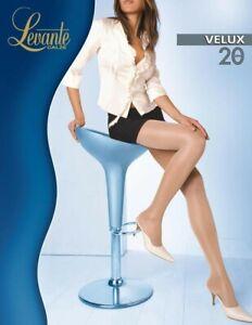 Levante Calze Velux Satin Sheer Shiny Tights Natural Medium 20 Denier