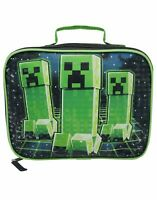 Minecraft Creeper Game Kids/Boys Lunch Box School Food Container Children's Bag