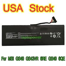 BTY-M47 Laptop Battery for MSI GS40 GS43VR 6RE GS40 6QE 2ICP5/73/95-2 7.6V 61.25
