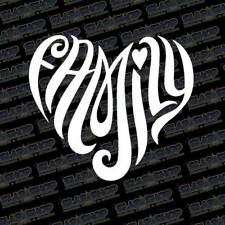 """Family Heart Vinyl Decal Sticker Car Window Love Laugh 5"""" Free Shipping"""