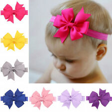 20 Colors Lot Baby Headbands Hair Bows Hair Bands for Infant Toddlers Big Bow