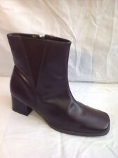 The Shoe Tailor Brown Ankle Leather Boots Size 5