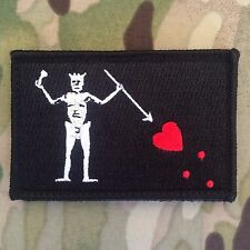 Blackbeard PIRATE FLAG Patch Morale Navy SEALS Team 3 Edward Teach Tactical NC