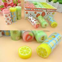 New fruit Pattern Rubber Eraser Creative Kawaii Stationery Gifts School M9B3