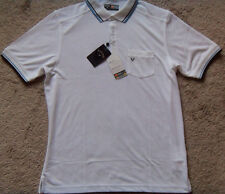 New Mens White Callaway Performance Chev Pocket Short Sleeve Polo Size M