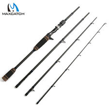 Casting Rod 7' Line 4-20lbs Lure 1/4-3/4oz Carbon Fishing Rod Fast Action 4Piece