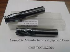 "2pcs 3//4/""x2-1//4x5 long length Carbide End Mills Tialn Coated 4 Flt S//E -new"