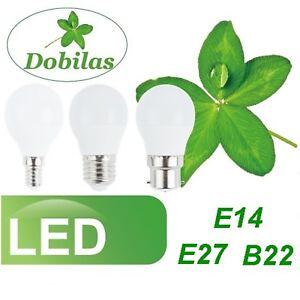 10x LED Bulbs 7W SES E14 E27 B22 BC ES Golf Ball Globe Lamp Light Cool White UK