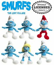 """Smurfs The Lost Village 8"""" Character Teddy Kids Soft Plush Official Merchandise"""