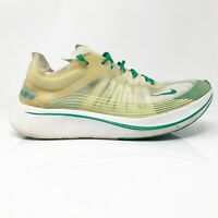 Nike Mens Zoom Fly SP AJ9282-101 Lucid Green White Running Shoes Lace Up Size 11