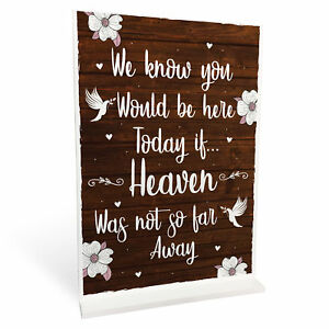 MEMORIAL WEDDING Table Sign Reception Wedding Decoration Remembrance Sign