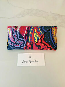 NWT Vera Bradley EyeGlass Case Twilight Paisley Hard Case Magnetic Close New