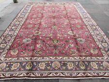 Old Hand Made Traditional Persian Rugs Oriental Wool Pink Large Carpet 387x287cm