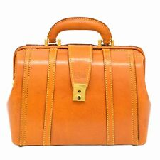 Authentic Bruno Conti Leather Business Hand Doctor Bag Satchel Case Brown Men
