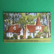 Christ Church Frederica Sea Island Beach St. Simons Island Georgia Postcard