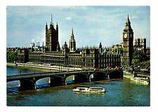 Houses Parliament Postcard Westminster Bridge London England Abbey River Thames
