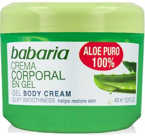 Babaria Aloe Vera Feuchtigkeitsgel 400ml mit reiner Aloe, belebende Körpercreme